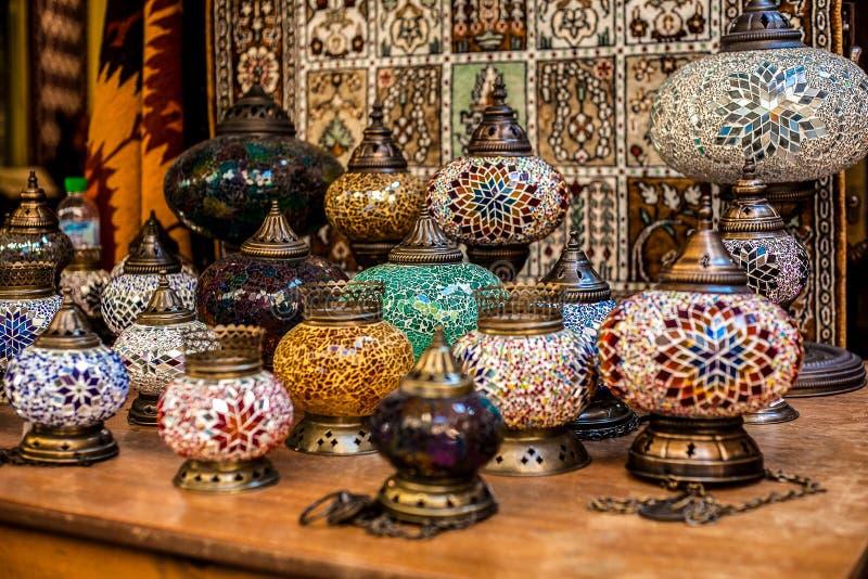 Moroccan lamps stock photos