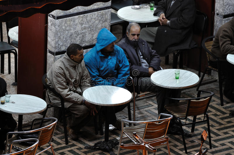 Download Moroccan Men In Cafe, Marrakech Editorial Stock Image - Image: 17948394