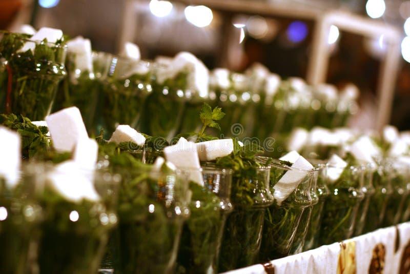 Moroccan mint tea stock photos