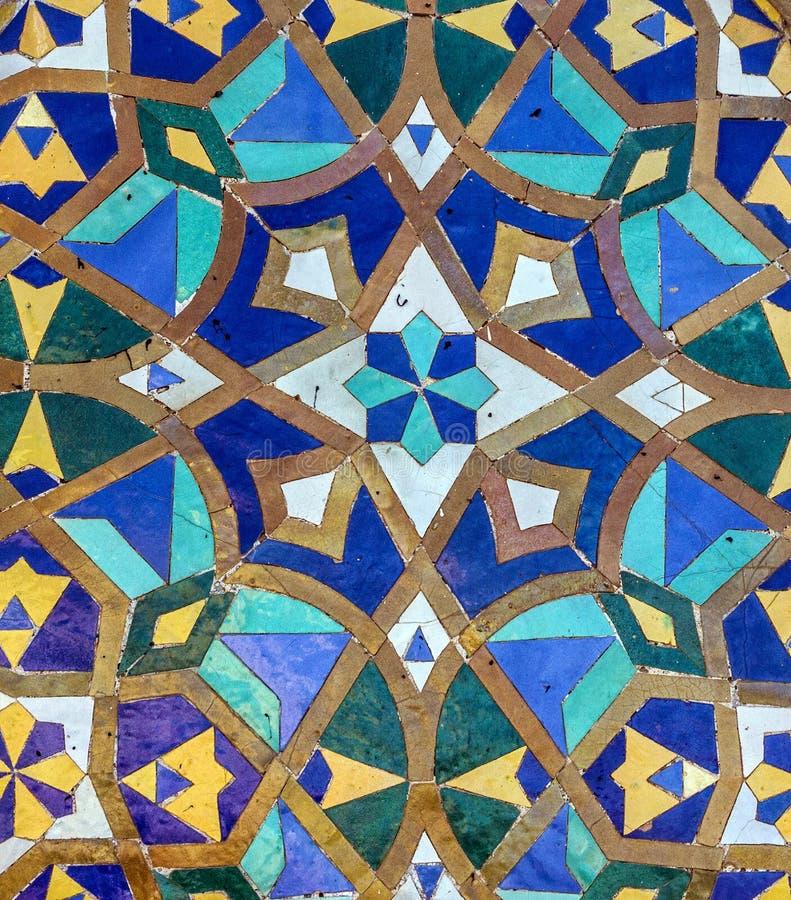 Moroccan Mosaic Tile, Ceramic Decoration Of Hassan II