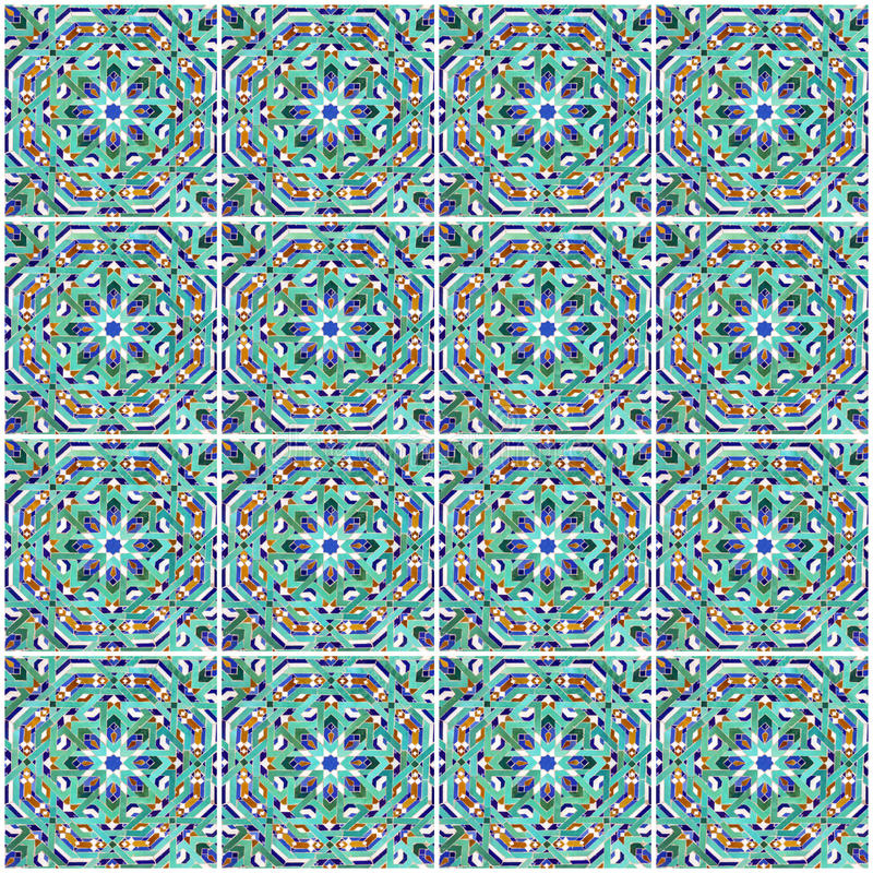 Moroccan mosaic tile, ceramic decoration of mosque, Morocco.  stock images