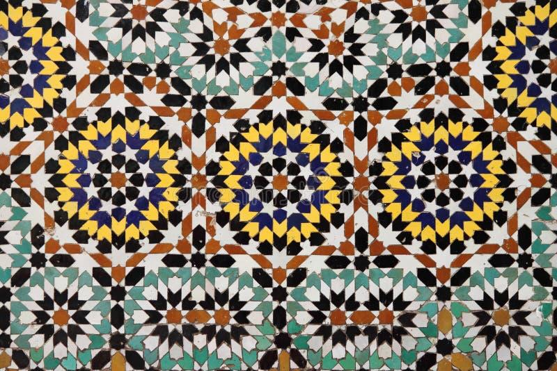 Moroccan mosaic stock image