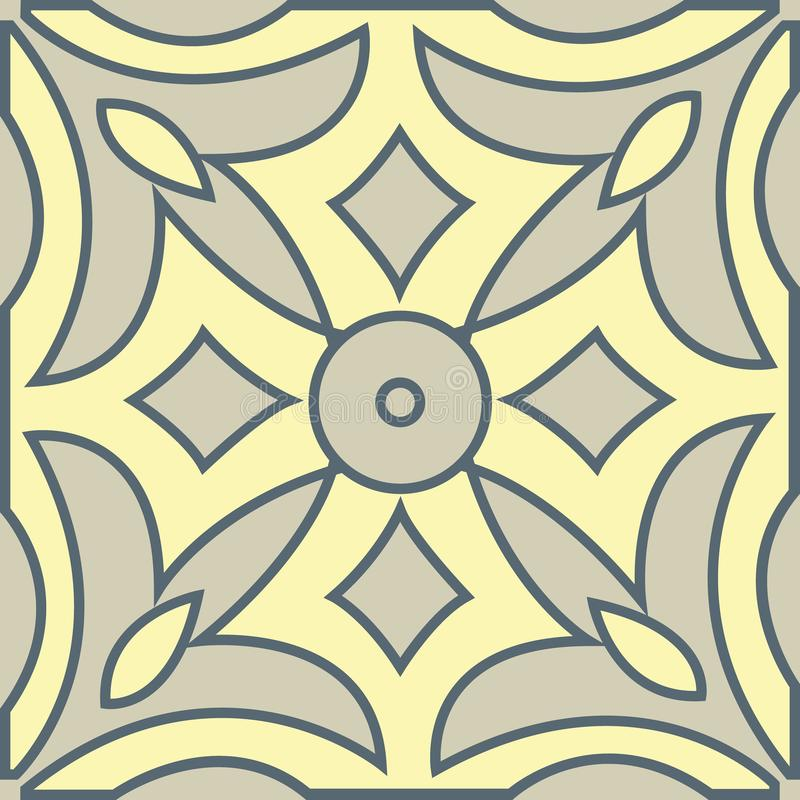 The Moroccan mural decorative geometric seamless pattern vector illustration