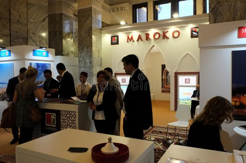 Moroccan National Tourist Office at TT Warsaw 2017 stock photo