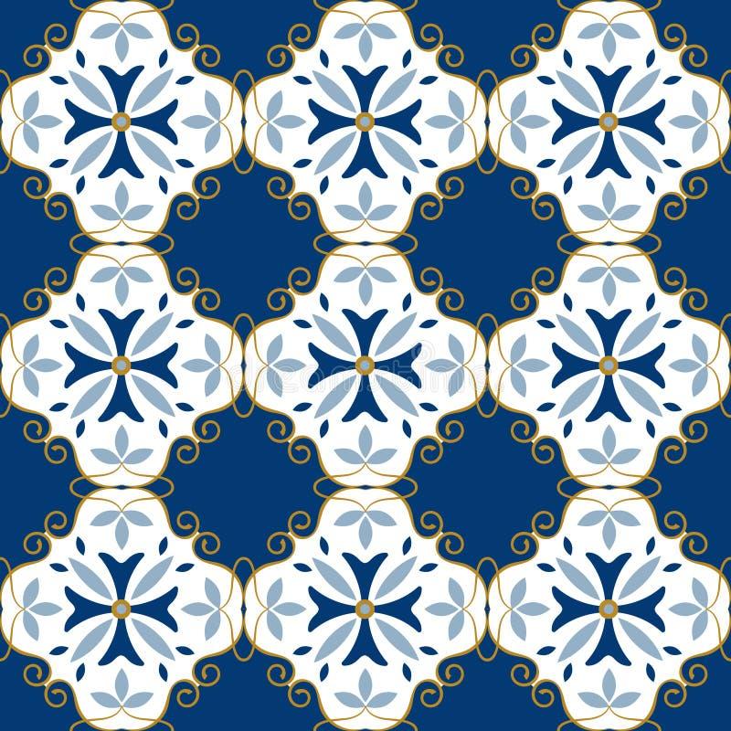 Moroccan pattern. Decor tile texture tiling seamless pattern royalty free illustration