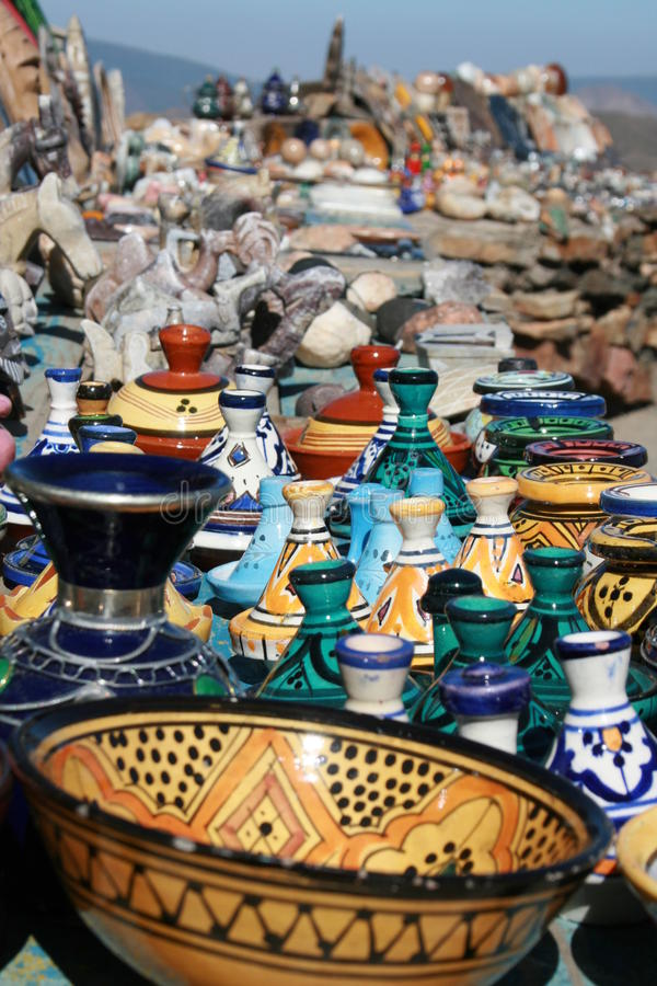 Download Moroccan pottery stock photo. Image of high, dish, coloreful - 17144248