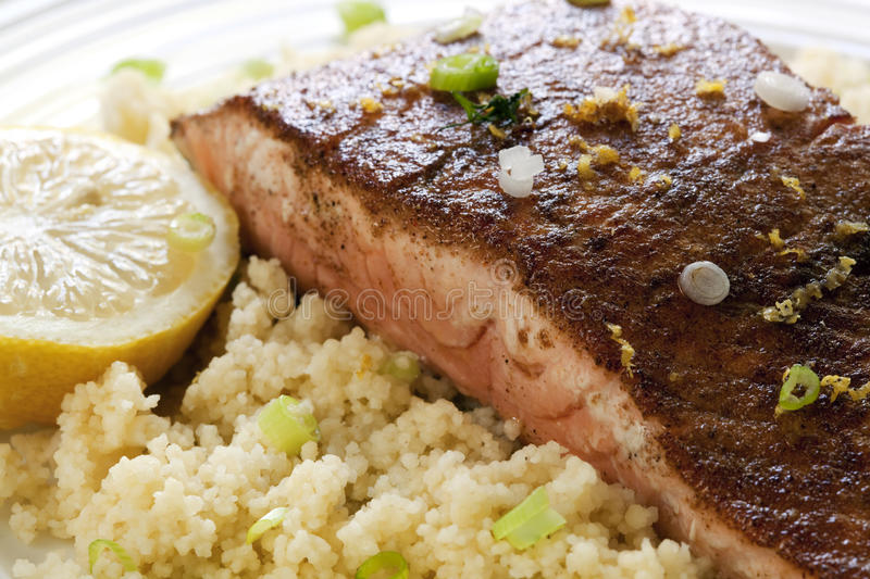Download Moroccan Salmon With Cous Cous Stock Image - Image: 14857123