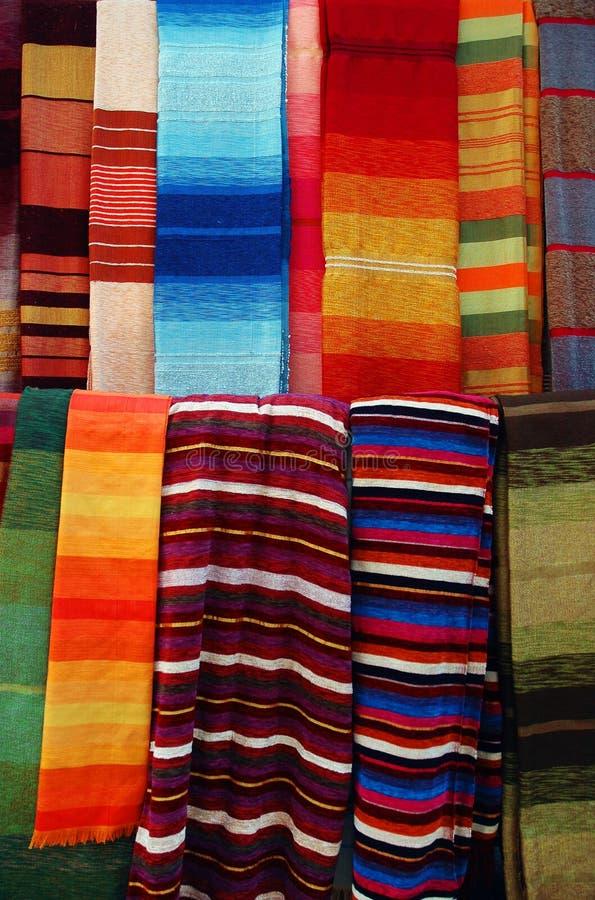 moroccan scarves arkivfoto