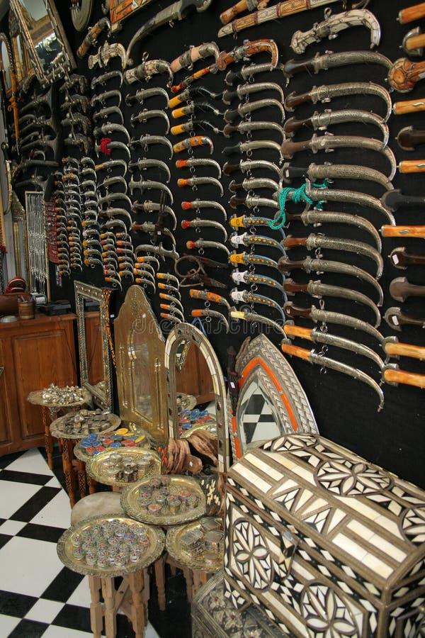 Moroccan souvenir shop. Inside the moroccan souvenir shop in Meknes city (Morocco stock photography