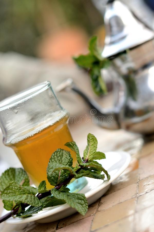 Moroccan tea stock images