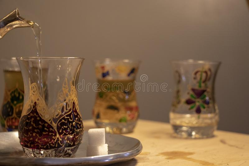 Moroccan Tea after a Business Meeting royalty free stock image