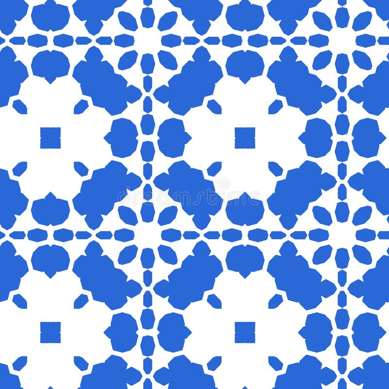 Blue Moroccan tile - seamless ornament. royalty free illustration