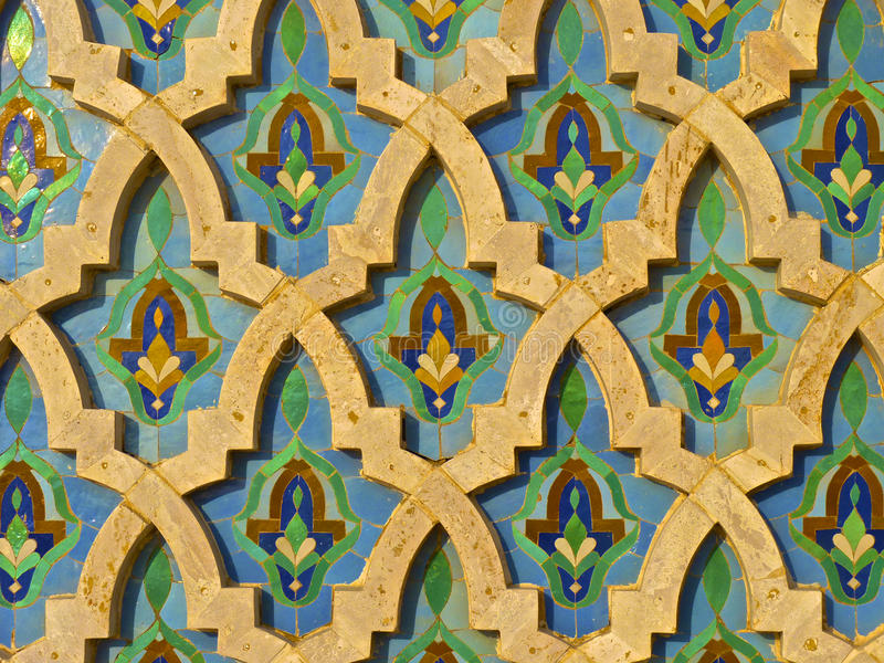 Moroccan Darj w Ktaf Tile Pattern royalty free stock photography