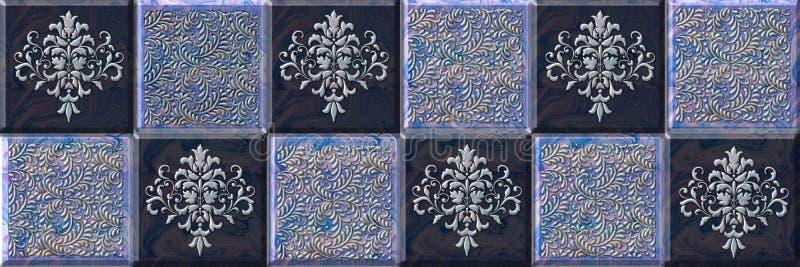 Seamless pattern tile design for kitchen ,bathroom stock illustration