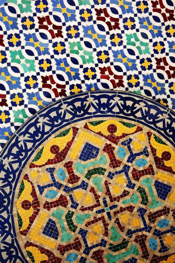 Moroccan tilework details stock image
