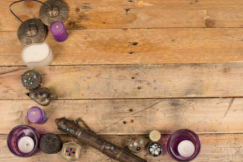 Moroccan trinkets background stock images
