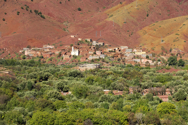 Moroccan village in the Anti-Atlas mountains stock photography