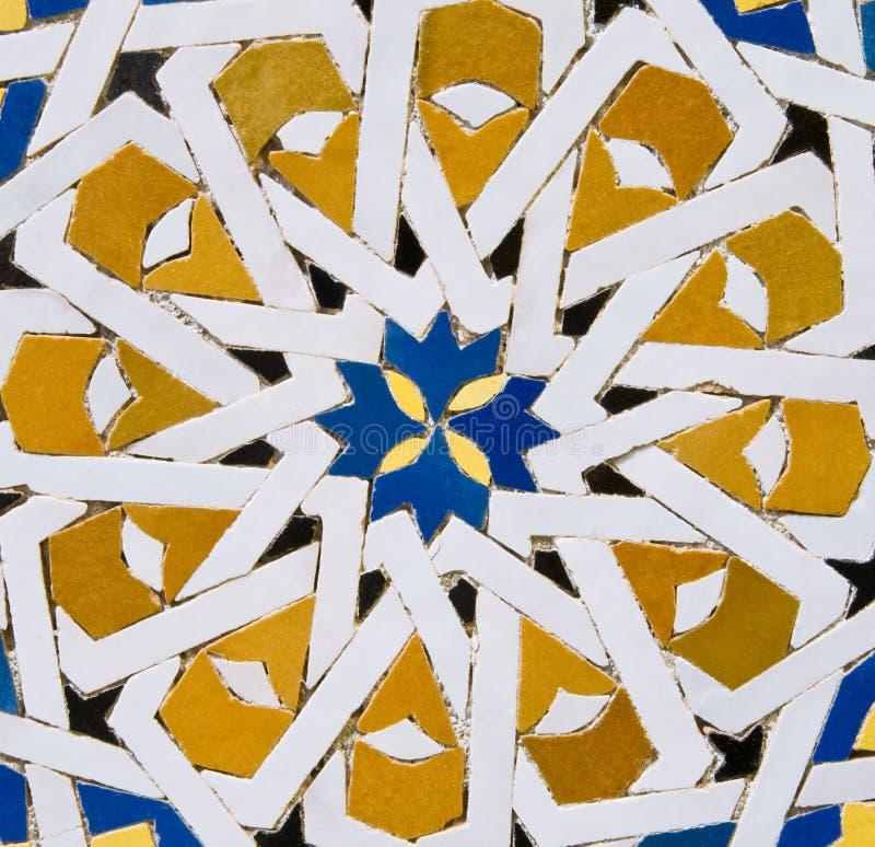moroccan wzoru płytka tradycyjna fotografia stock