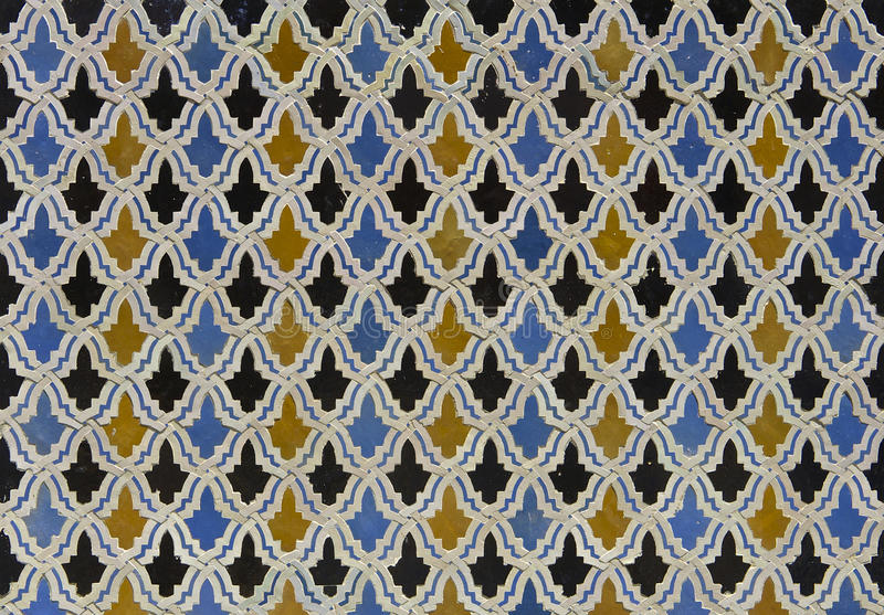 Moroccan Zellige Tile Pattern royalty free stock photography
