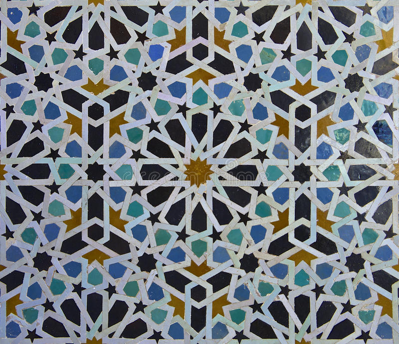 Moroccan Zellige Tile Pattern royalty free stock images