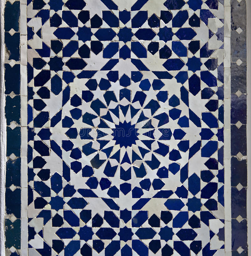 Moroccan Zellige Tile Pattern royalty free stock photos