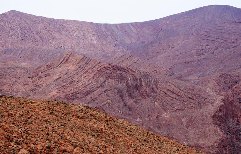 Morocco. Bizarre forms of the Atlas Mountains stock photo