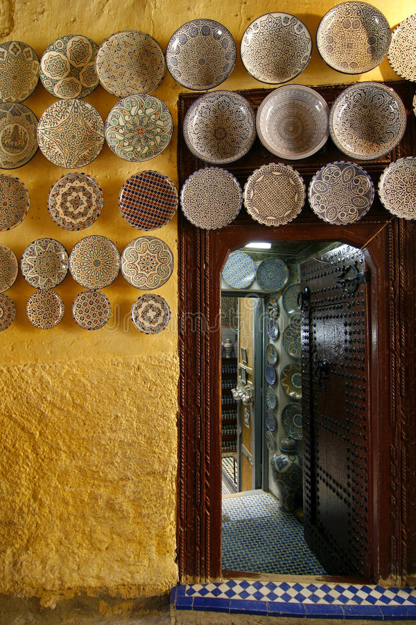 Download Morocco Ceramics Shop Stock Photo - Image: 10787970