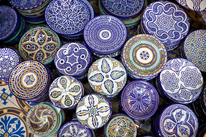 Morocco crafts. Handcrafts shot at the market in Marocco royalty free stock images