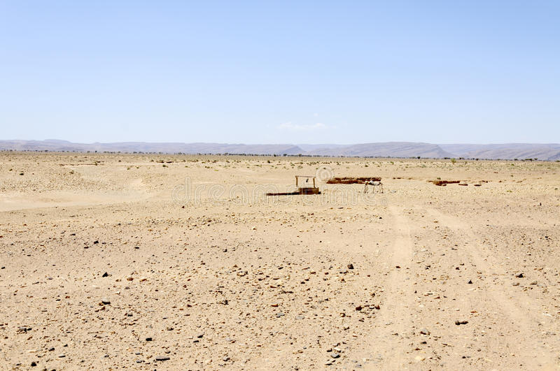 Morocco, Draa Valley, well royalty free stock photography