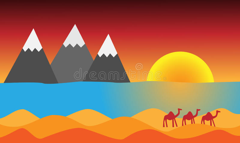 Morocco is famous for its sun, Atlas mountains, sea and sahara stock photo