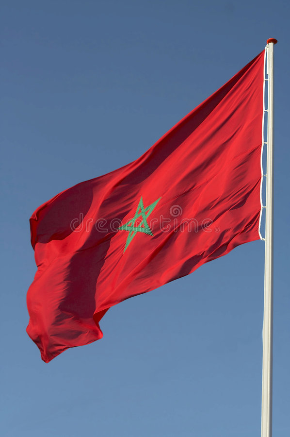 Morocco flag royalty free stock image