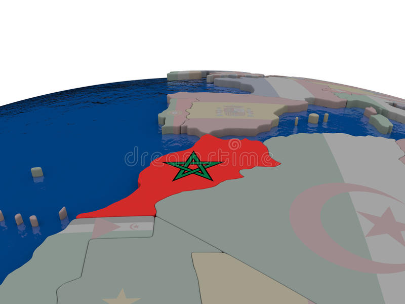 Download Morocco with flag stock illustration. Image of moroccan - 83717730