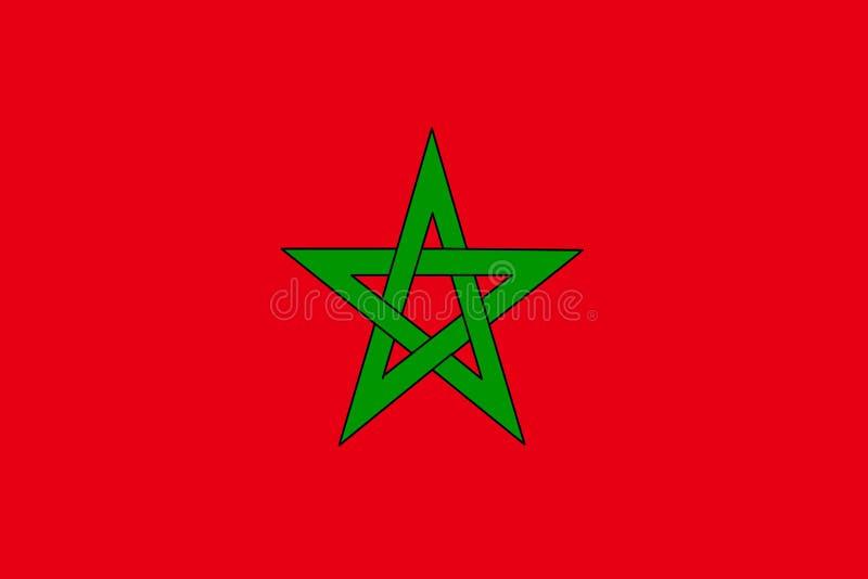 Morocco flag vector. Illustration of Morocco flag stock illustration