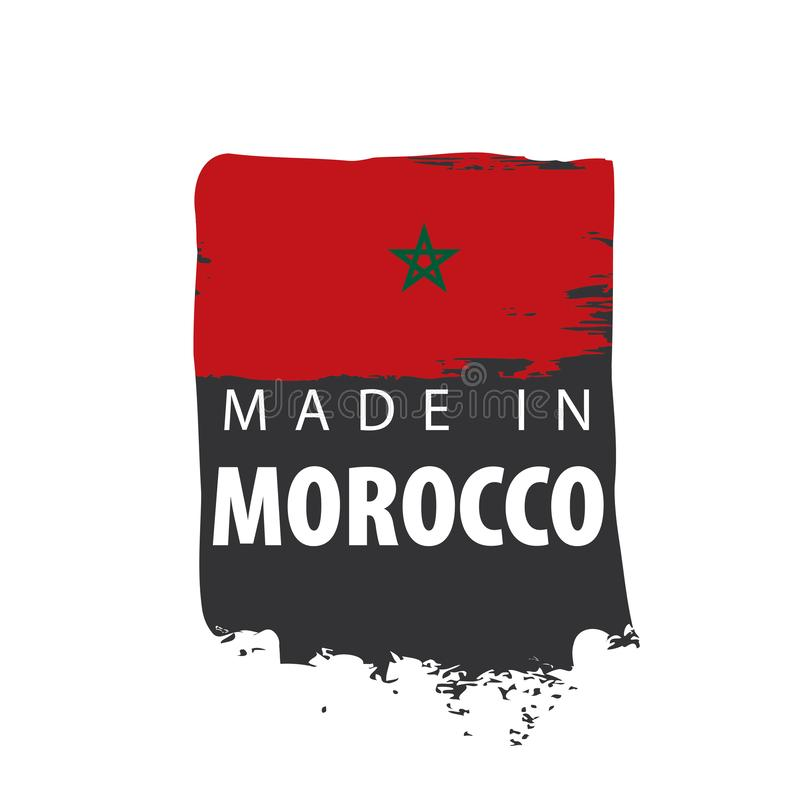 Morocco flag, vector illustration on a white background stock illustration