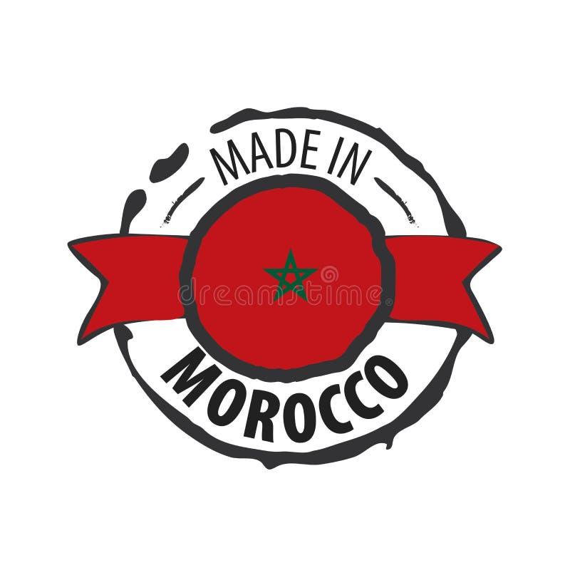 Morocco flag, vector illustration on a white background royalty free illustration