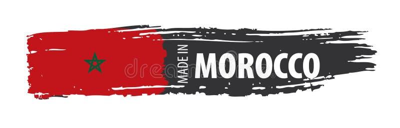 Morocco flag, vector illustration on a white background vector illustration