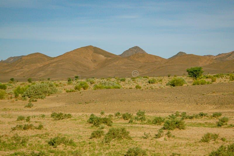 Morocco.  High Atlas desert landscape royalty free stock photo