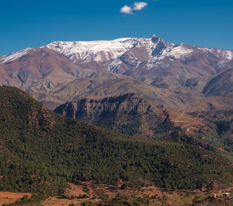 Morocco The High Atlas Mountain range view.  royalty free stock photography