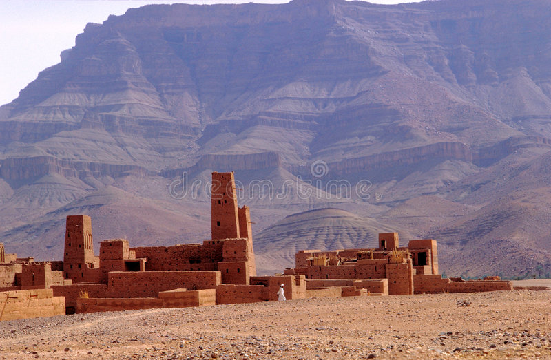 Morocco ksar stock photo