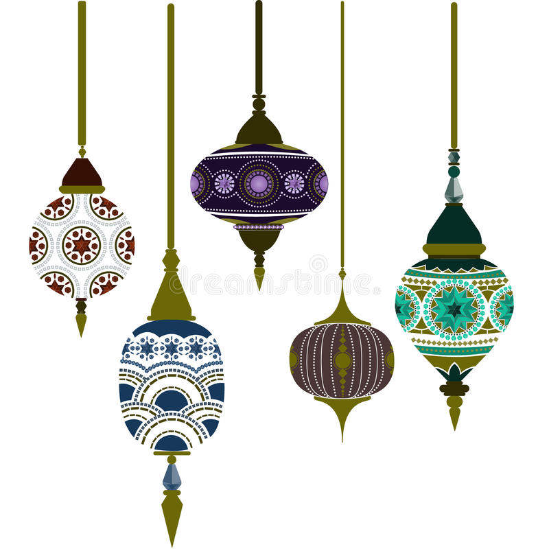 Morocco Lamps. Beautiful pattern vector vector illustration