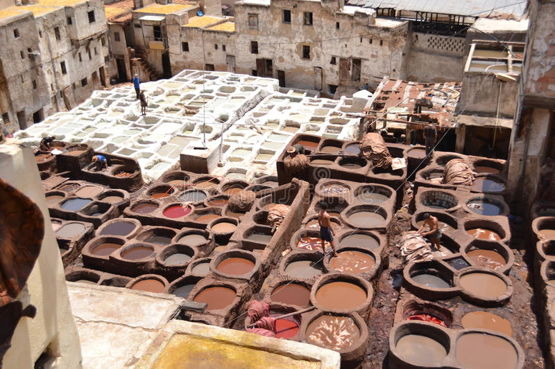 Morocco leather , Maroc stock images