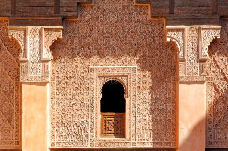 Morocco, Marrakech: Ben Youssef madrasa royalty free stock image