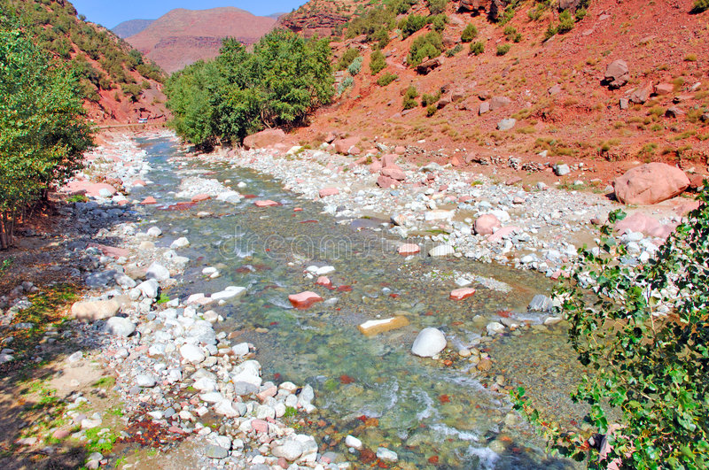 Morocco, Marrakech: landscape of Ourika valley royalty free stock image