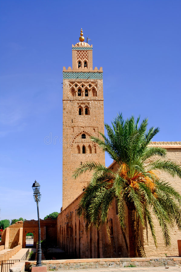 Morocco, Marrakesh: the Koutoubia stock photos