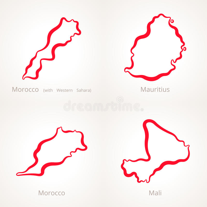 Outline Map Of Mauritius. Mauritius Districts Blank U Mapsofnet With ...