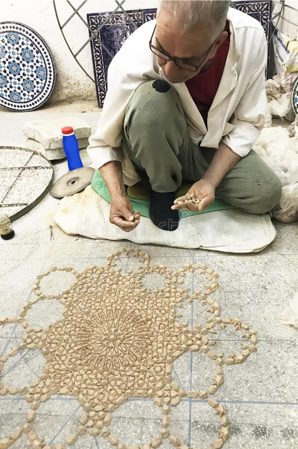 Oriental Mosaic in Morocco stock photo  Image of muslim