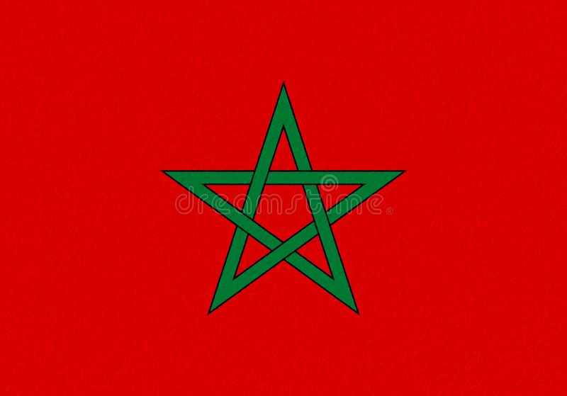 Morocco paper flag stock images
