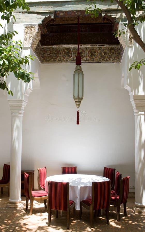 morocco riad obraz stock