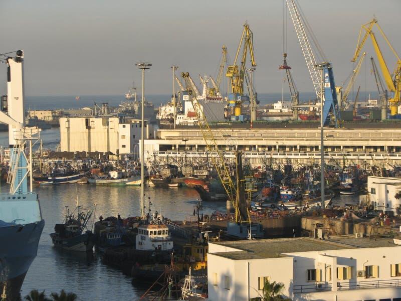 morocco seaport arkivbild