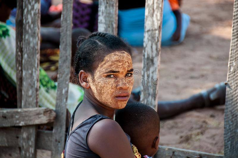 Young malagasy woman in Morondava stock images